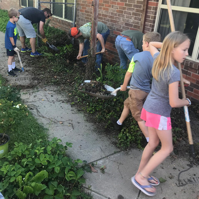 The Detroit Ramblers use local grants to complete a community service project.
