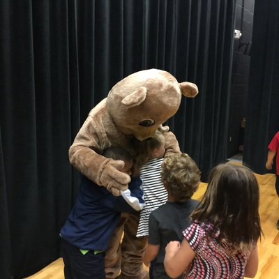 Happy Bear teaches young children about personal safety